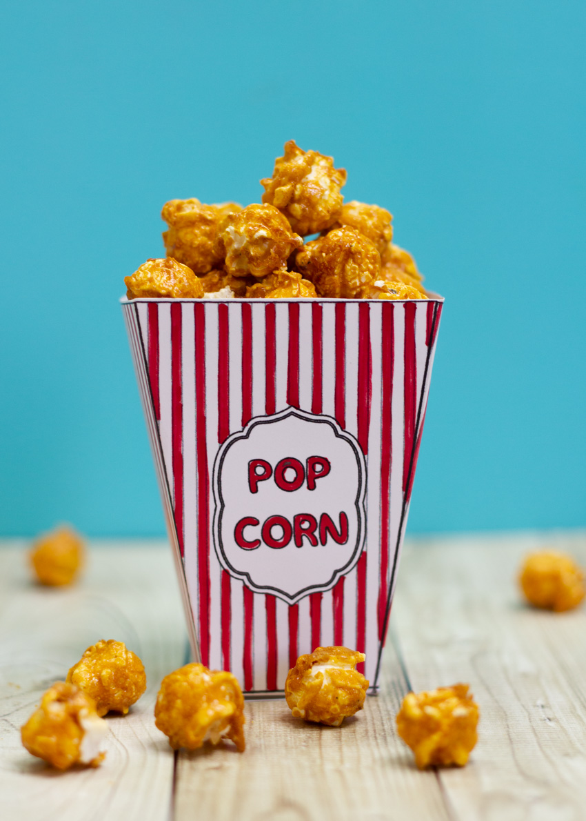Diy Movie Popcorn Box Free Printable Make And Takes