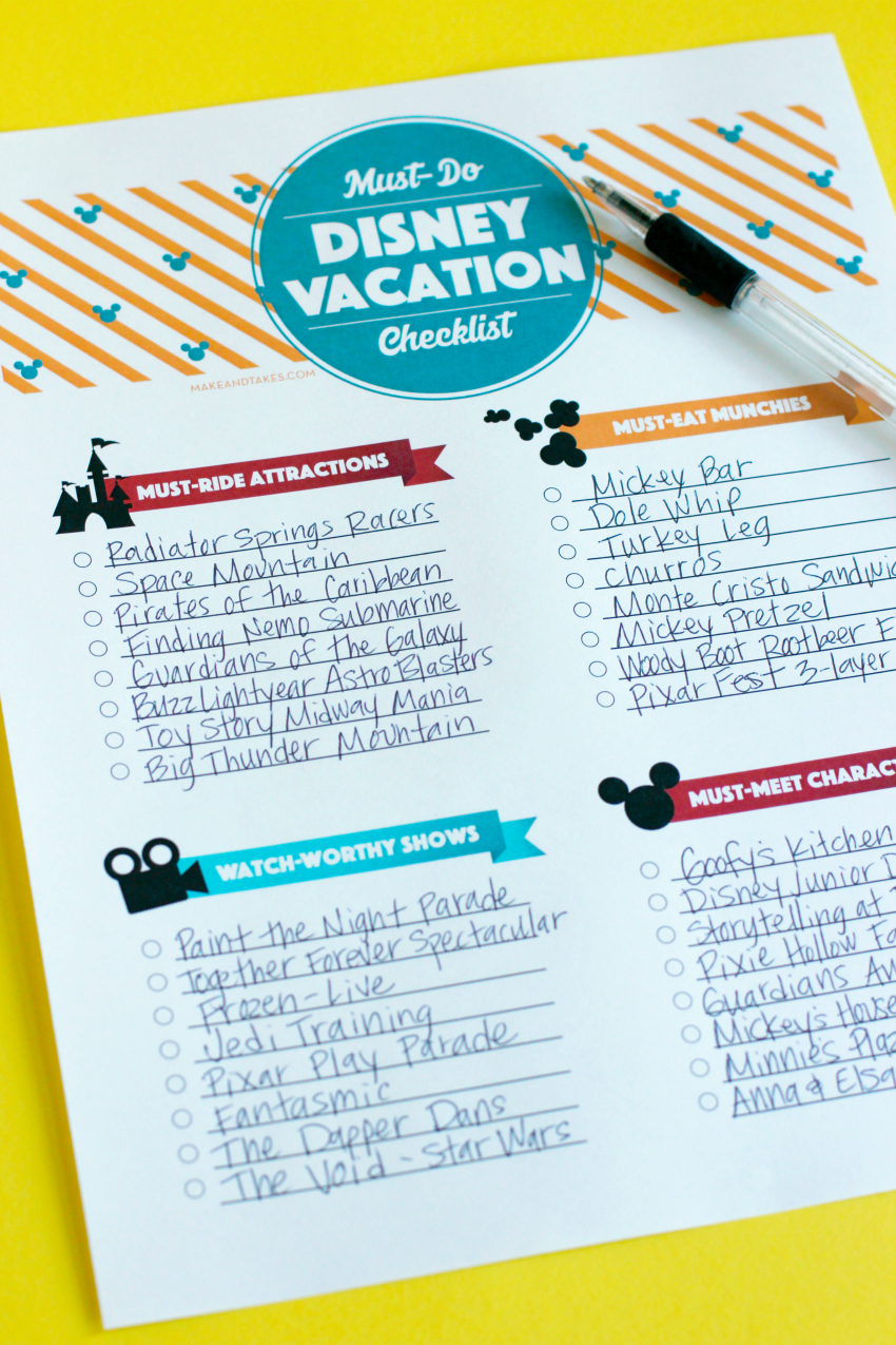 Must-Do for your Family Disney Vacation