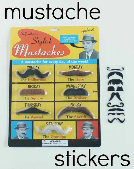 Mustache Stickers