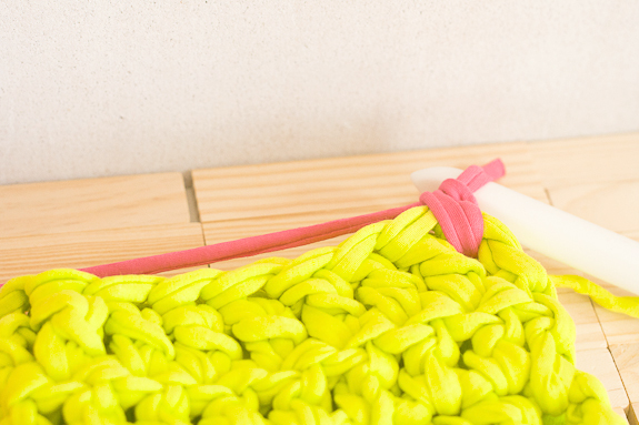 Neon Crochet Summer Clutch from T-shirt Yarn by Francine Clouden for Make & Takes-11