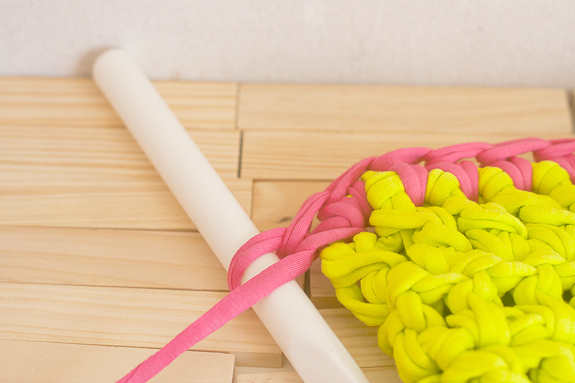 Neon Crochet Summer Clutch from T-shirt Yarn by Francine Clouden for Make & Takes-13
