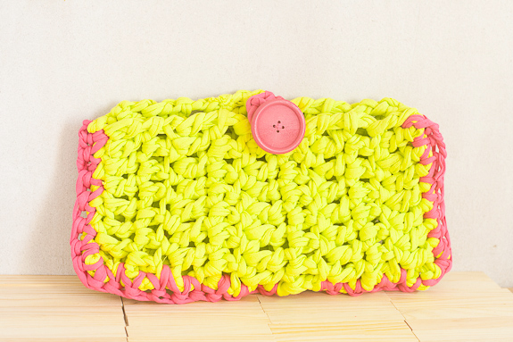 Neon Summer Crochet Clutch