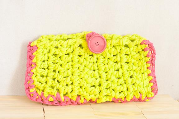Neon Summer Crochet Clutch