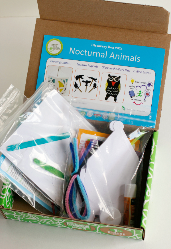 Nocturnal Animals Discovery Box from Green Kid Crafts