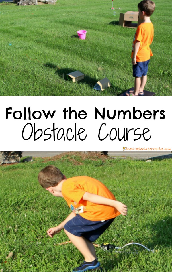 Follow the Numbers Obstacle Course