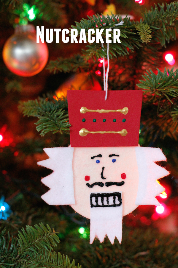 Nutcracker Felt Ornament on the Christmas Tree