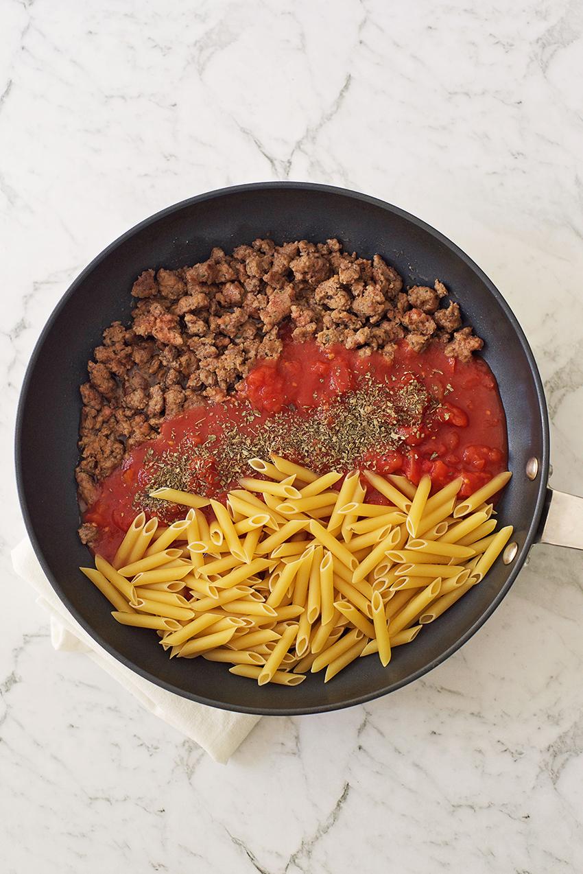 One Pan Pasta with Sausage