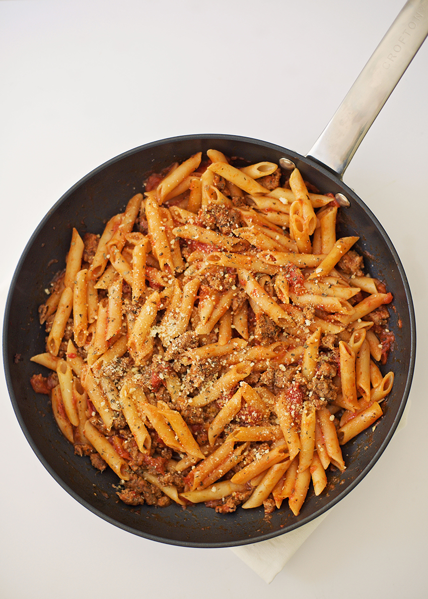 One Pan Sausage Pasta Recipe