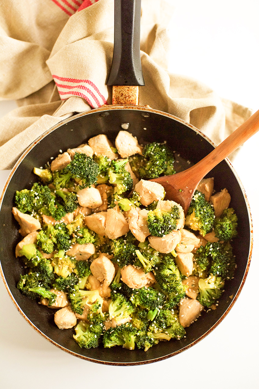 One Pot Meal: Chicken and Broccoli Stir Fry