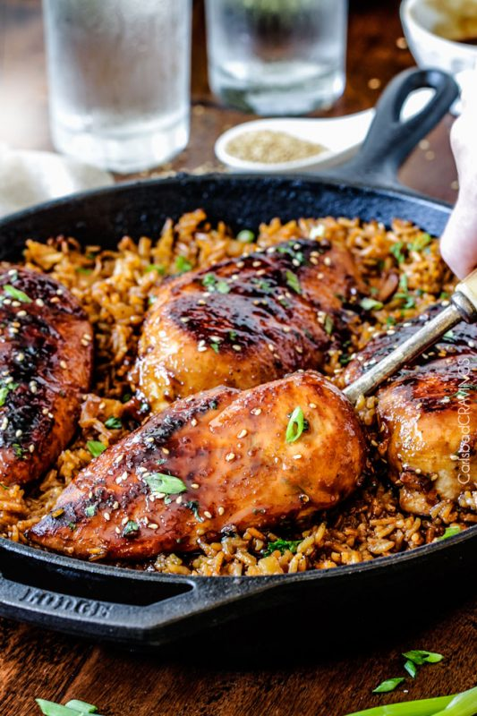 One Pot Teriyaki Chicken and Pineapple Rice
