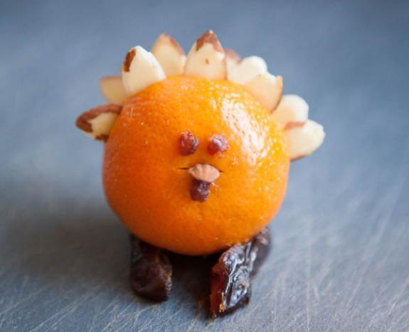Orange Turkey Thanksgiving Table Favors