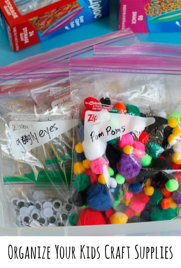 Organizing Your Kids Craft Supplies