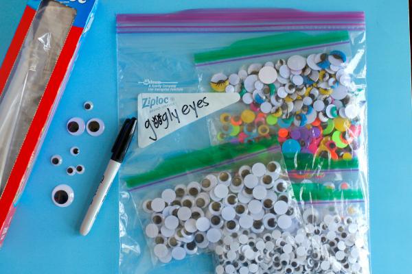 Organizing and Storing Kids Craft Supplies