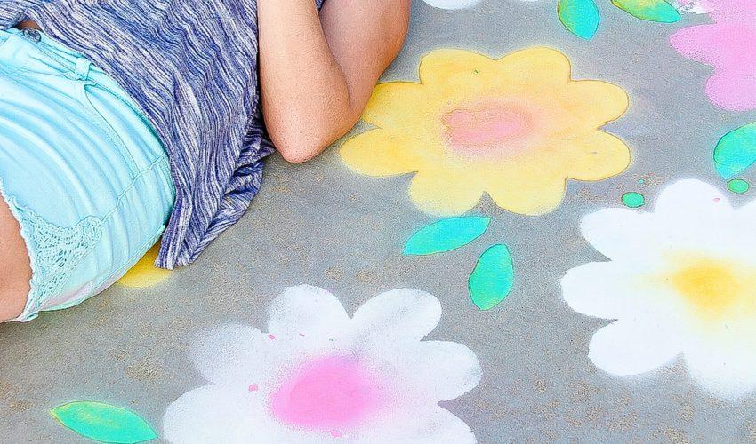 Spray Chalk for outdoor fun