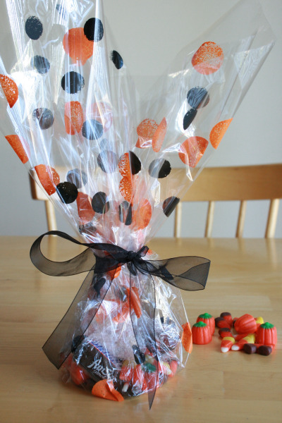 Painted Gift Wrap for Halloween