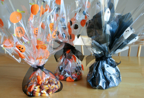 Painted Halloween Cellophane
