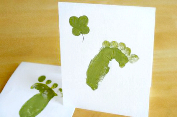 Painted Handprint Leprechaun Feet