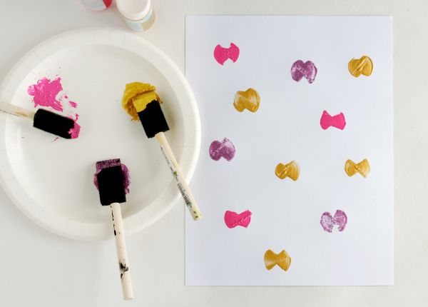Painting Butterflies with Foam Paint Brushes