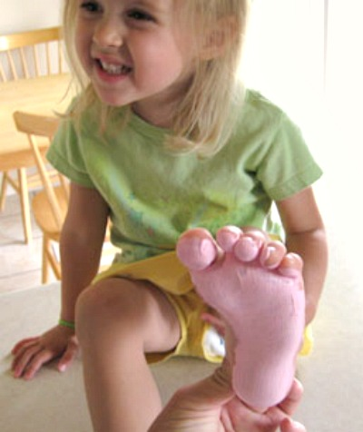 Painting Feet for Kids Crafts