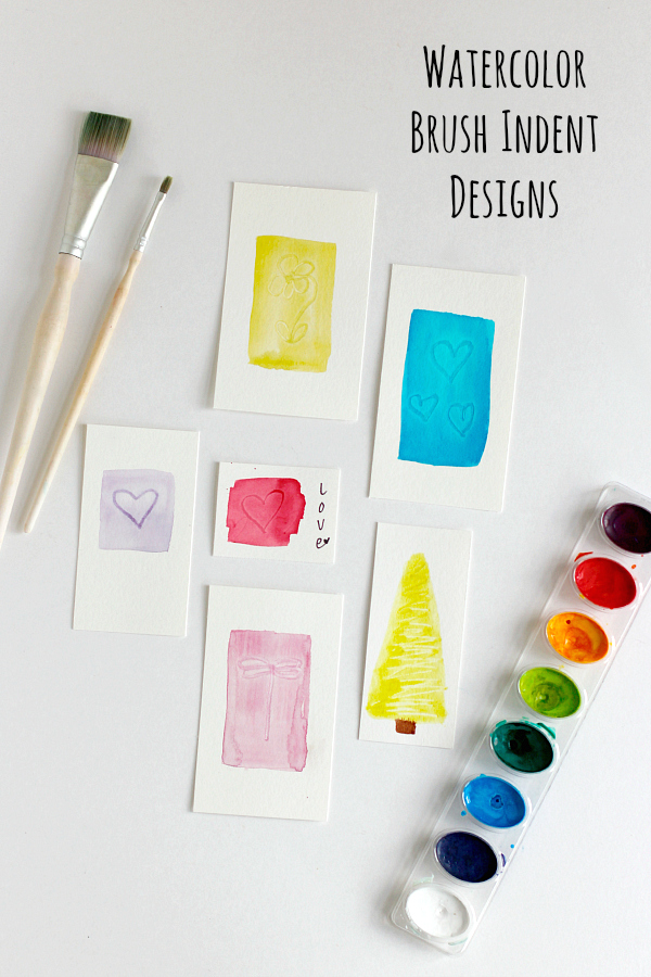 Watercolor Brush Indent Designs
