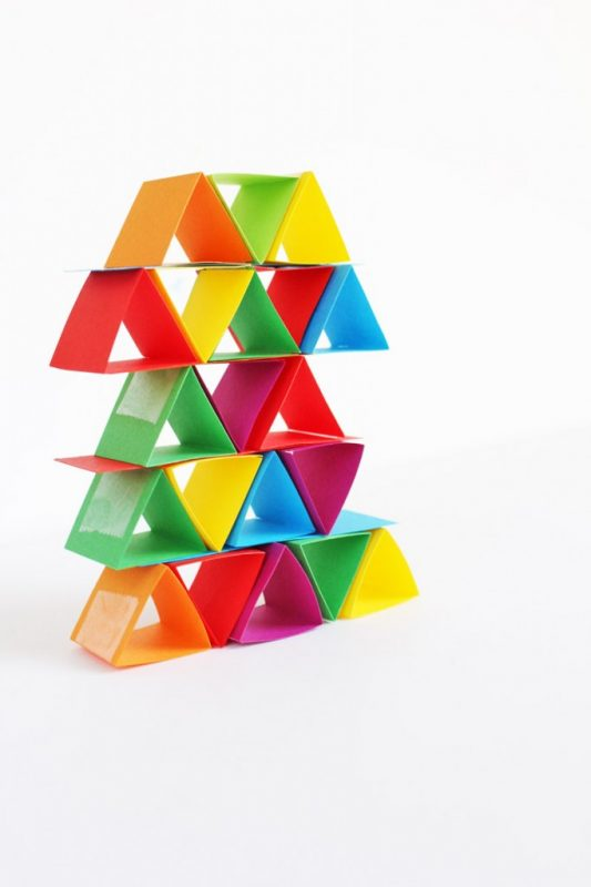 Paper Building Blocks