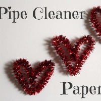 Pipe Cleaner Heart Paper Clips