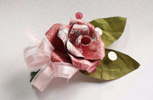 Handmade paper corsages make and takes supplies for paper corsage mightylinksfo