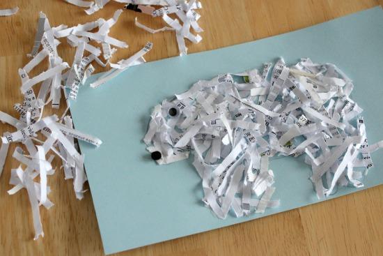 Paper Glittered Polar Bear