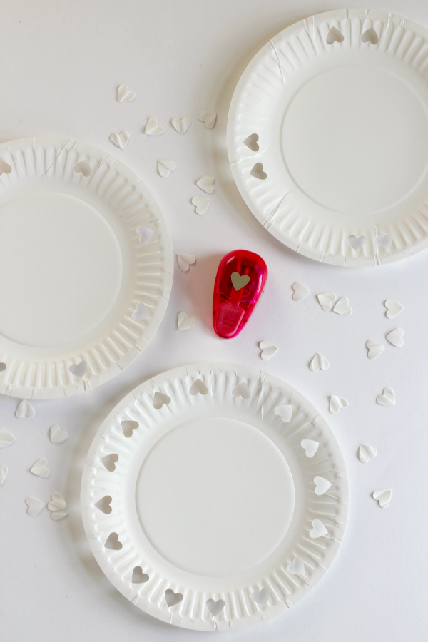 Paper Heart Punching Plates for Valentine's Day
