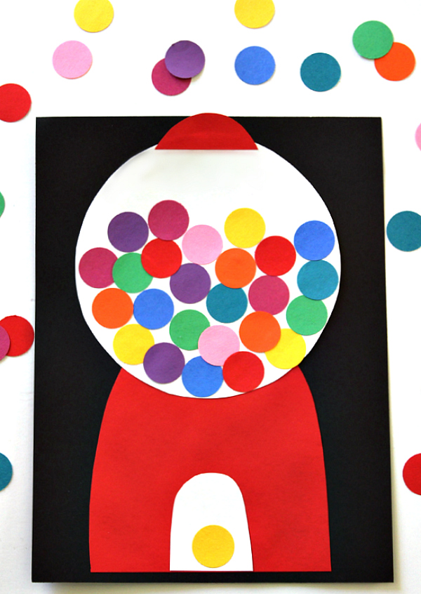 Paper Party Gumball Machine