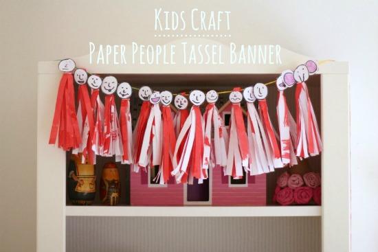Paper People Tassel Banner makeandtakes.com