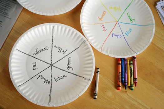Paper Plate color wheel