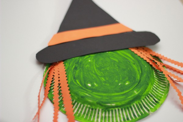 make a wickedly fun paper plate witch halloween craft cast a spell on your home - Halloween Crafts To Do At Home