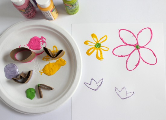 Paper Towel Tube Stamping for Spring