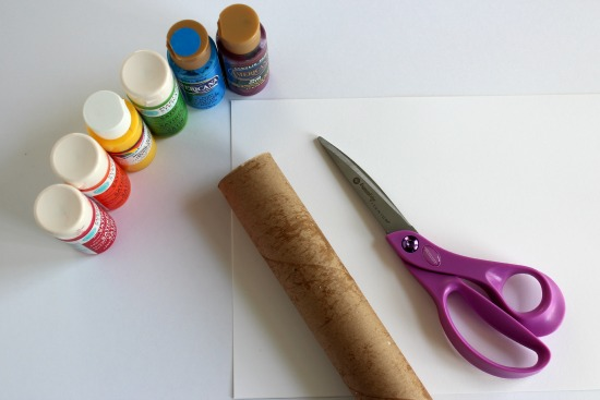 Paper Tube Rainbow Stamping Supplies