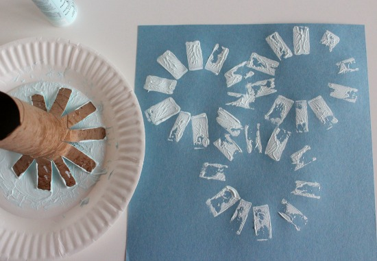 Paper Tube Snowflake Stamps makeandtakes.com