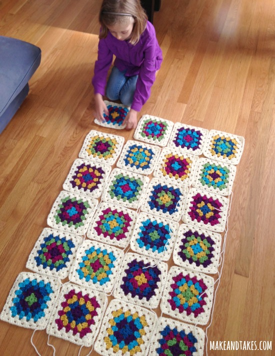 Patching up Granny Square Blanket