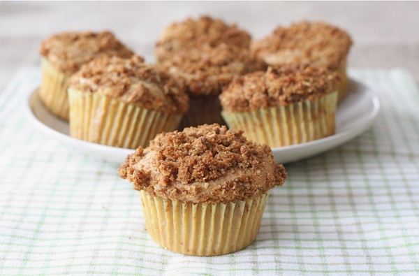 Pear Muffins with Honey Oat Topping