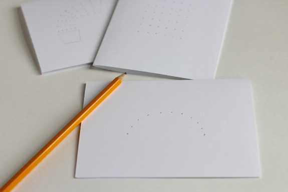 Pencil Dots for Rainbow Puffy Paint Cards