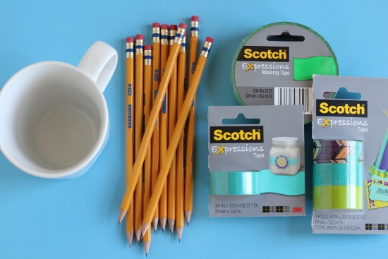 Personalized Pencil Mug Supplies
