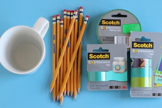 Personalized Pencil Mug Supplies