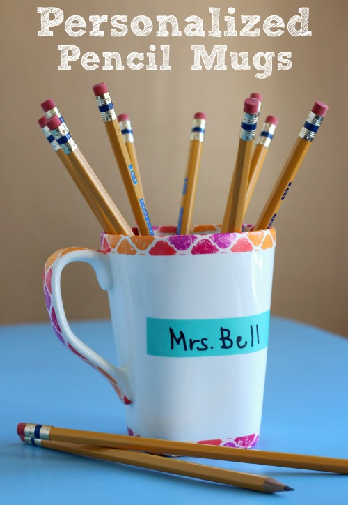 Personalized Pencil Mugs makeandtakes.com