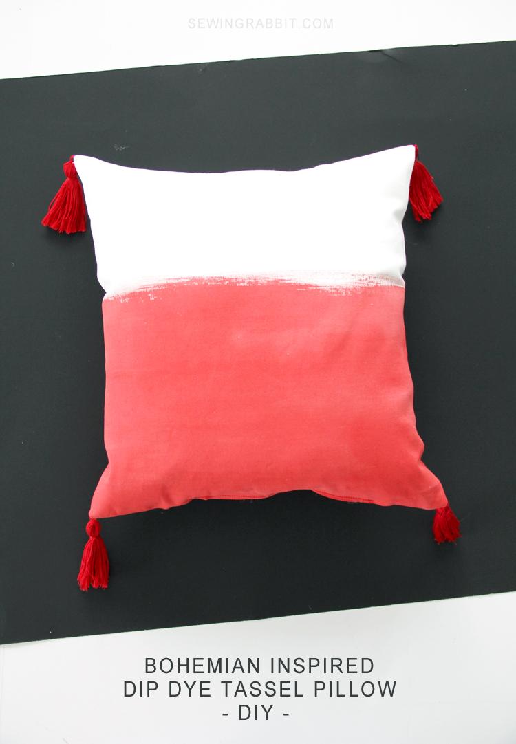 Super cool bohemian tassel pillow diy make and takes