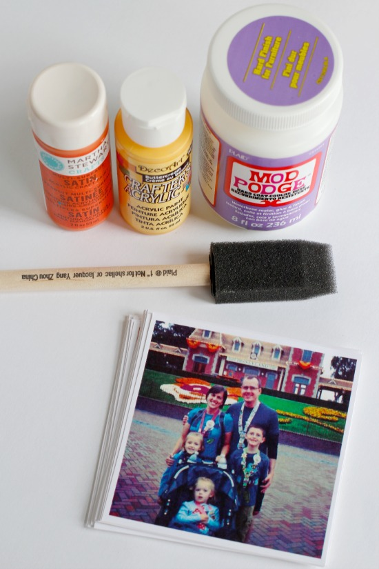 Photo Box Painting and Decoupage supplies