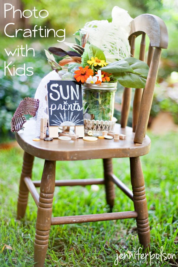 Photo Crafting with Sun Prints Kids Craft
