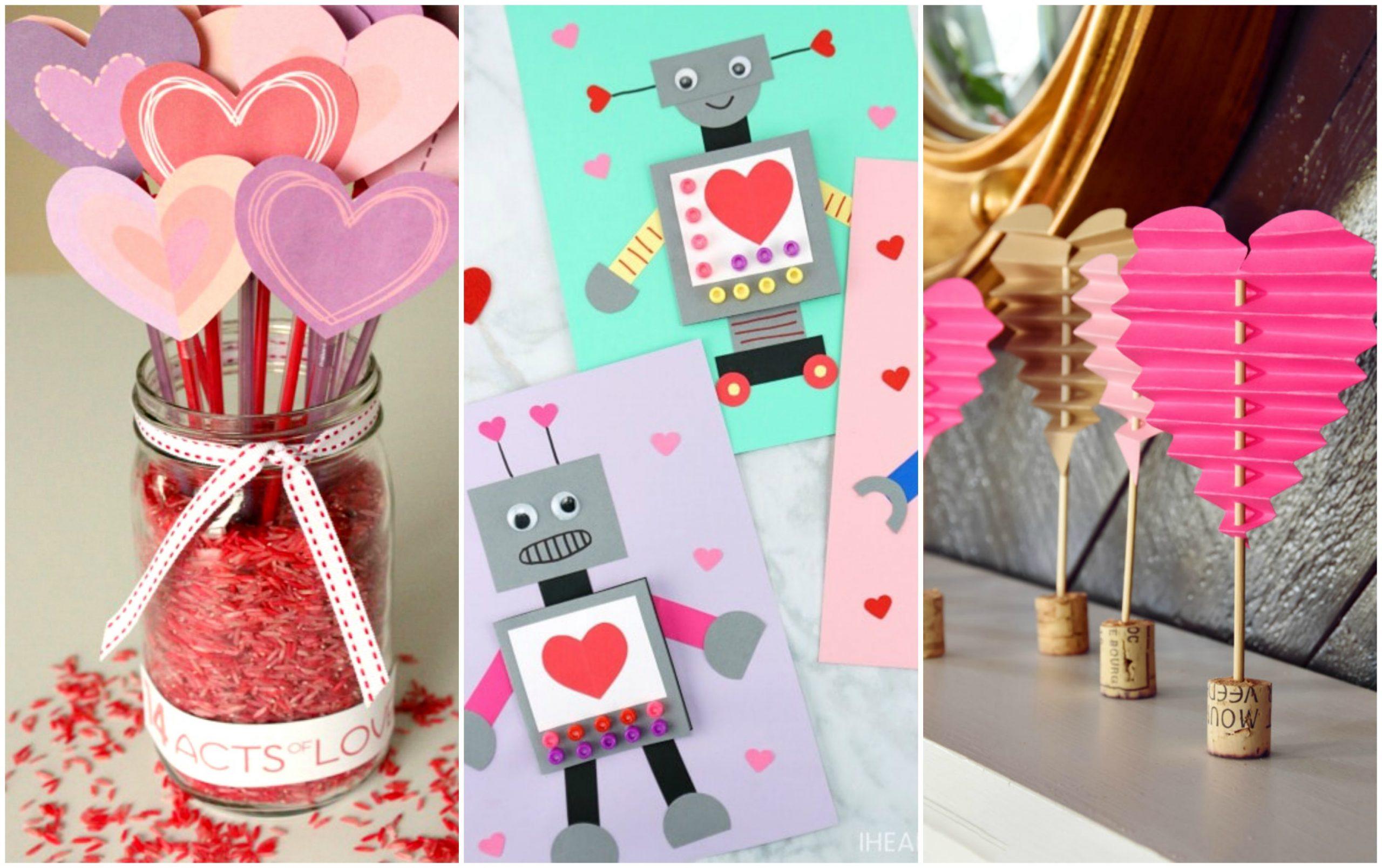 DIY Valentine paper crafts to make