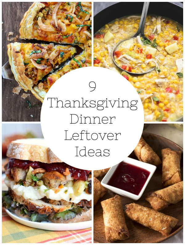 9 Thanksgiving Dinner Leftover Ideas
