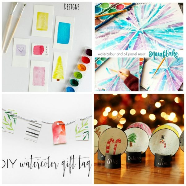7 Watercolor Cards to Make and Send Out for the Holidays