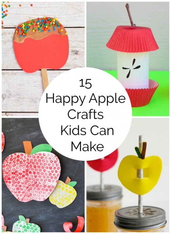 15 Happy Apple Crafts Kids Can Make