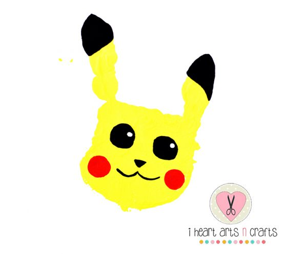 Pikachu Handprint Craft